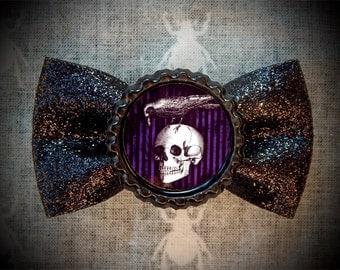 Raven Skull hair bow