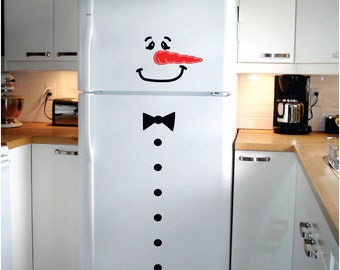 StickTak Stickers Frosty The Snowman Christmas Holiday Season Xmas Wall Door Fridge Window Vinyl Decal
