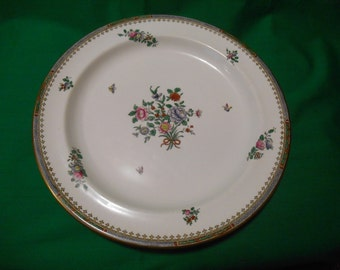 """One (1), 12"""" Bone China, Chop Plate (Round Platter), from Spode Copeland China, in the Lowestoft C-1703 Pattern."""
