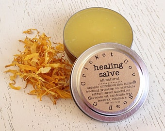 SALVE -  All Natural Salve - Cuticle Cream - Solid Lotion - Organic Shea Butter Salve - Reusable Tin