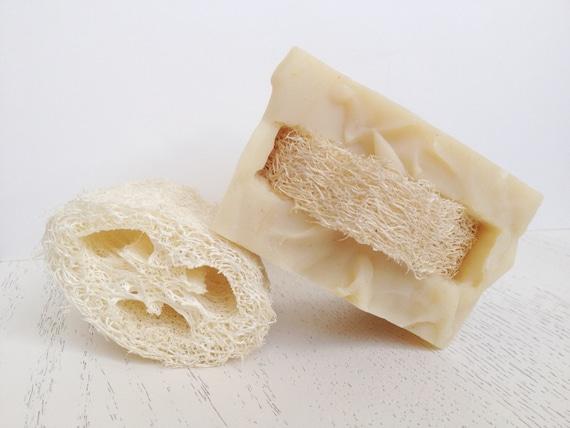Rosemary Peppermint Spa Scrub Loofah Soap - Loofah - Handmade Scrub Soap - Natural Soap - soap
