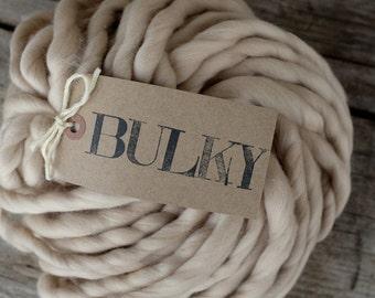 "BULKY Yarn - 7 oz / 200 gr - Merino Superfine 16 micron - Baby Blanket Yarn  - Bulky Yarn - ""FRANGIPANE"""