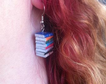 Outlander Micro Mini Book Stack Earrings