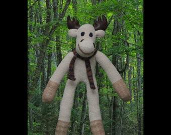 Sock Monkey Moose. Micky Moose the lovable sock Moose! unique sock animal