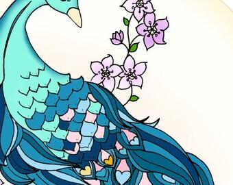 Peacock Artprint