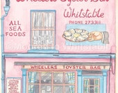"""Greeting Card - Wheelers Oyster bar - Whitstable - 7"""" x 5"""""""