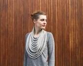 MEDIUM GREY merino knitted necklace