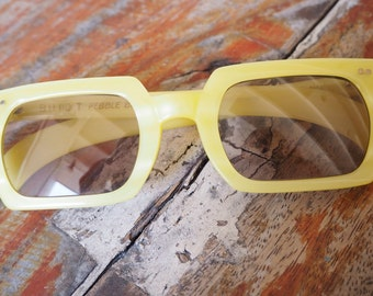 Vintage American Optical Sunglasses Very Rare Neon Yellow Color. 1960's New Old Stock