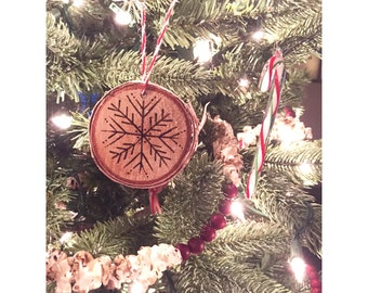 Woodburn Snowflake Ornaments - Set of 4