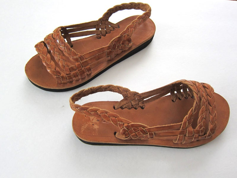 Huarache Sandals Mexican Sandals Brown Leather Sandals