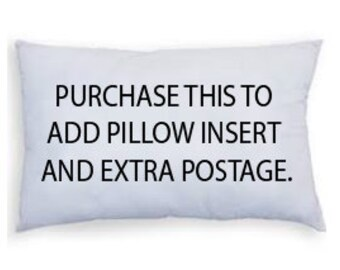 Purchase to add pillow insert to any lumbar 30CM X 50CM & extra postage for any pillow available in this shop.