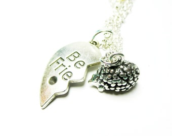 Sale  Bff necklace -Tiny Hedgehog  Necklace-  silver hedgehog jewelry  with  Free  gift