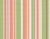 Home Decor Drapery Bedding Upholstery Fabric Dapper Stripe Watermelon Pink Coral Green Brown
