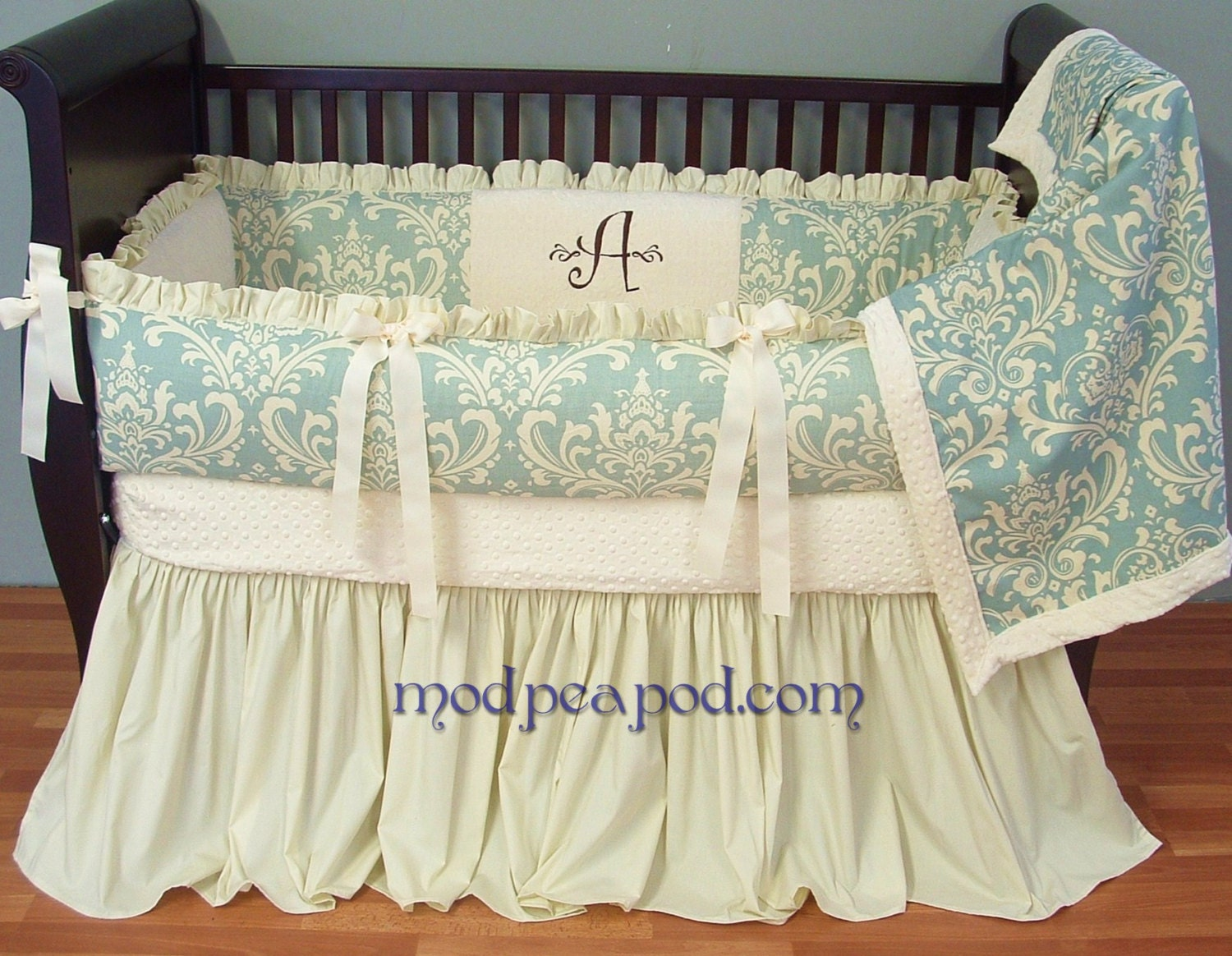 Baby crib bedding set custom modern designer authentic - Modern baby bedding sets ...