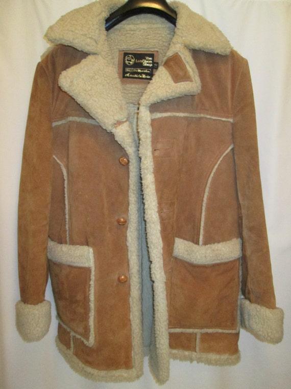 vintage SEARS western wear sheepskin sherpa by Greatusedstuff