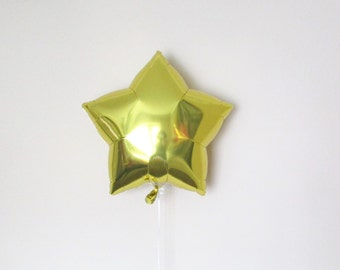 Gold Star Balloon, Mylar Balloon, 1st Birthday, Baby Shower, Twinkle Twinkle Little Star, Stars and Moons, Star Decoration, Magical