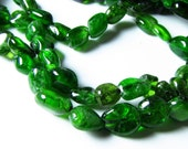 Russian Chrome Diopside Oval Nugget Beads 5mm - 8mm