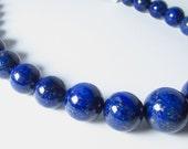 Dark Blue Lapis Graduating Round Ball Beads 6mm - 18mm