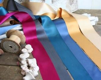 50mm Satin Ribbon, Six colours, Wide ribbon , By the Metre, Dresses, Cakes