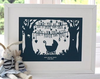 Dr Seuss New Baby Christening Print