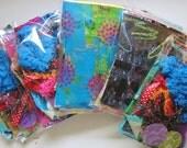 Mini art kit, destash grab bag, mixed media art supplies , journal fodder