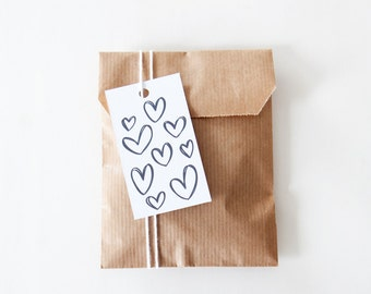Printable tags  - hearts - two patterns