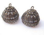 Antique bronze large sized jhumkas, Indian jewelry, 28 mm x 28mm