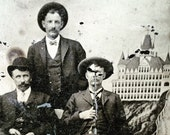 Antique Tintype 3 Fellas & Cliff House San Francisco, CA Photo Backdrop