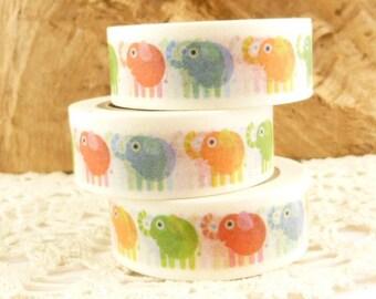 Rainbow Elephant Washi Tape - M1434