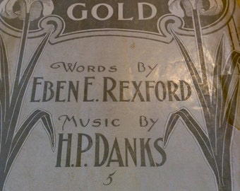Vintage 1901 sheet music for Silver Threads Among the Gold NY