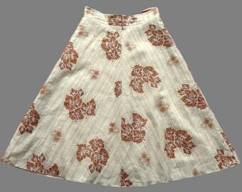 Vintage 70's Midi Skirt UK 6