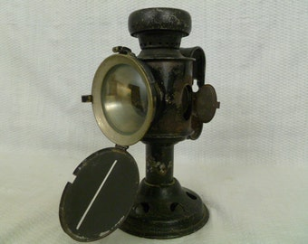 Antique Bicycle Lamp, Bicycle Candle Lamp Circa 1890's, Bicycle Head Lamp