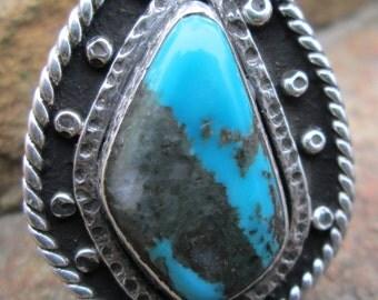Kingman Turquoise,Sterling silver ring.