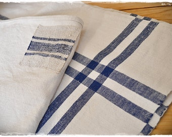 Table cloth, antique linen, handwoven