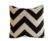 "Pillow cover One 22"" x 22"" chevron black pillow beige pillow cushion cover"