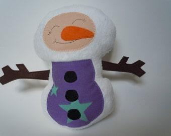 Stars Wrap Scrap Snowman Plush Doll