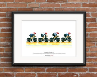 Team GB Men's Cycling Pursuit Team, London 2012 Olympics ART POSTER A3 size