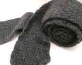 Wool Scaf Hand Knitted Grey Colored