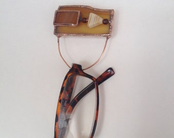 Eyeglass Pin Stained Glass Readers Holder