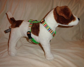 Custom adjustable standard harness all sizes.  YOU pick fabric and nylon color
