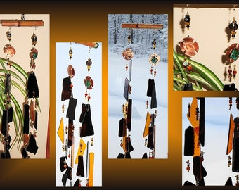 Metal Windchime Glass Windchimes Copper Windchime Gold Windchime Garden Decor Stained Glass Windchime Window Suncatchers Persian