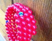 SALE Red Summer Bracelet