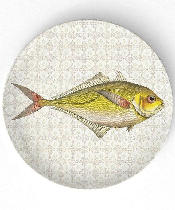Sea Life Fish IV melamine plate