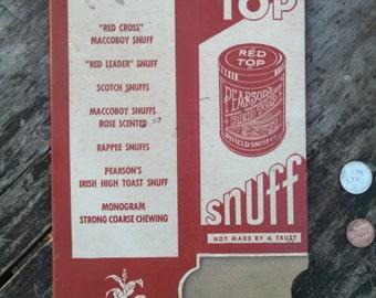 RARE Pearson's Red Top Snuff  Box Minty