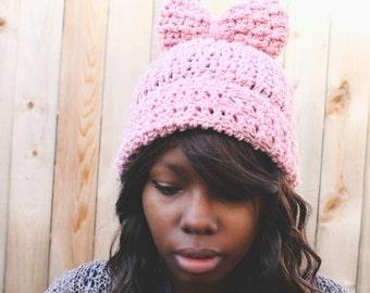 The Crochet Bow Beanie.