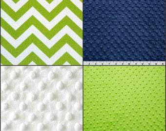 Premier Prints Zigzag Lime Green Minky Baby Blanket