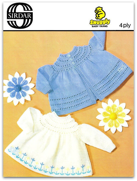 Vintage 70s Knitted Baby Angel Top PDF Pattern Baby