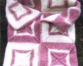 Knitting Pattern-Baby's Building Blocks Bunting & Blanket, modular Bartlettyarns Fisherman Bulky wool baby bunting blanket