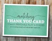 Matching Thank You Card, Printable, Custom