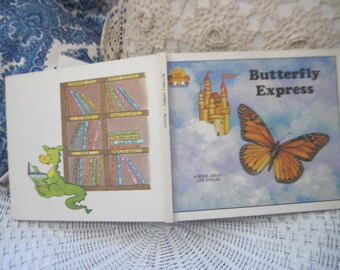 Butterfly Express 1988 A book about Life's Cycles, by child's world,Vintage Children's Book, Children's Book,Preschool Book,Vintage book  :)
